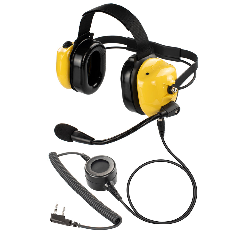 Bommeow BHDH40PTT-YW-K2B Noise Isolation Headphone for Baofeng UV-5X3 UV-5R