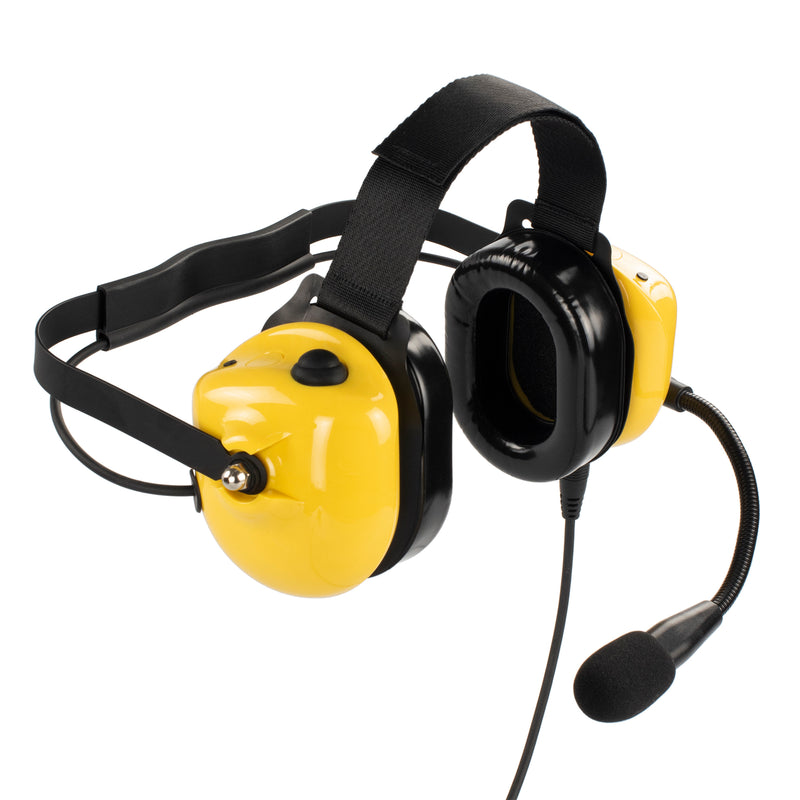 Bommeow BHDH40PTT-YW-K2C Noise Isolation Headphone for Tytera MD-446 TYT-777