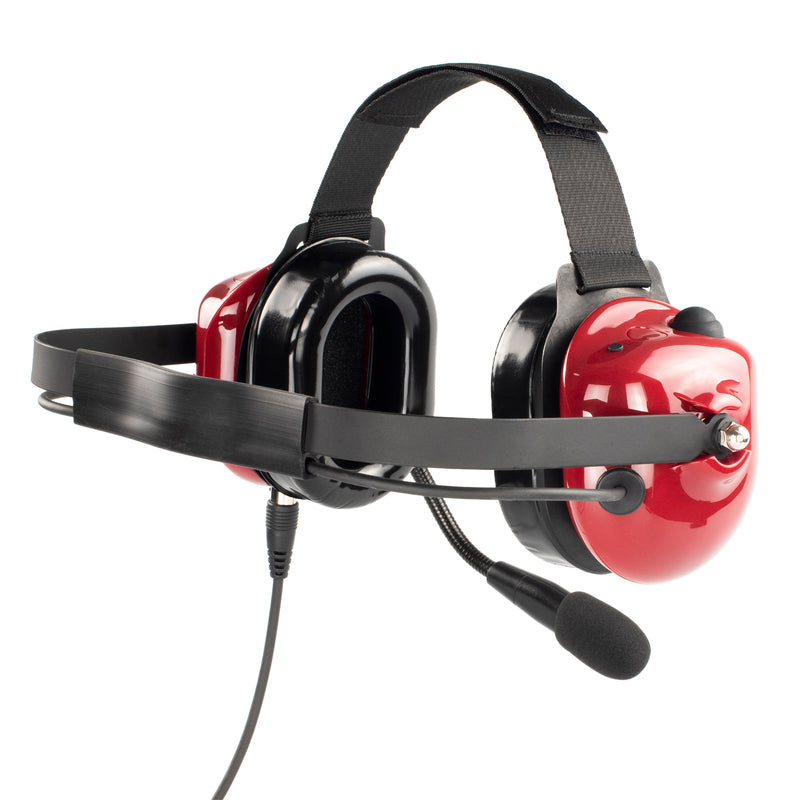 Bommeow BHDH40-RD-K2C Noise Isolation Headphone for Tytera MD-446 TYT-777