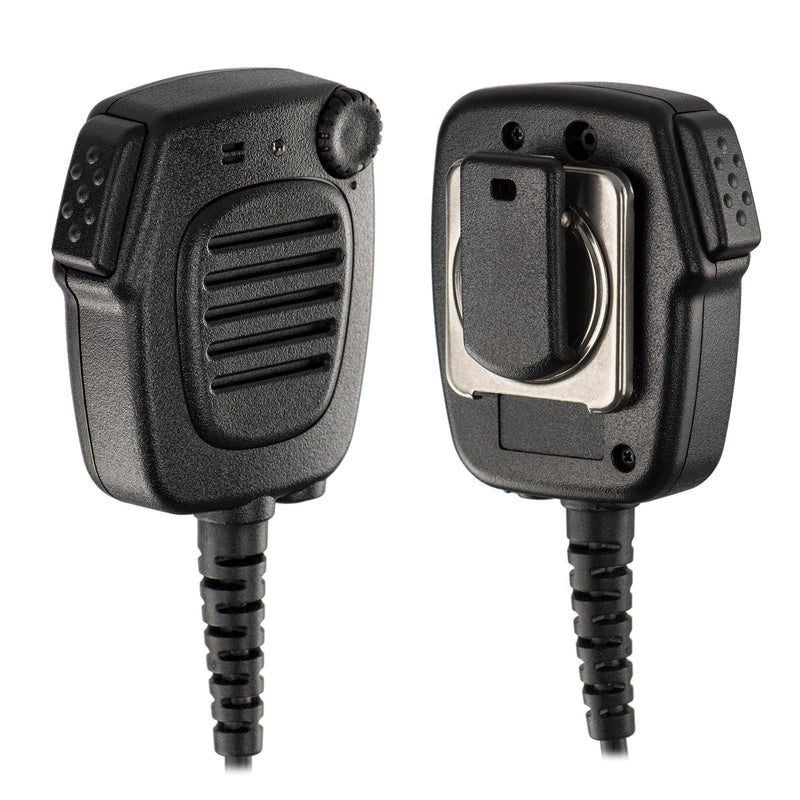 BOMMEOW HTC550-M9 Heavy Duty IP54 LED Handheld Radio Shoulder Speaker Mic for Motorola XPR6000 XPR7000 APX P25 Series
