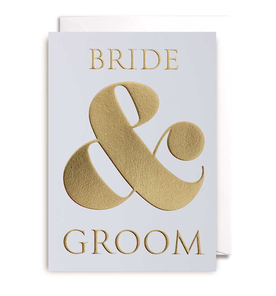 Bride and Groom Greeting Card - Lagom Design