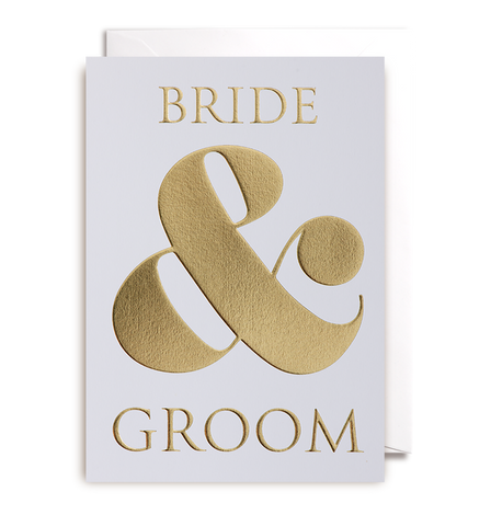 Bride and Groom Greeting Card