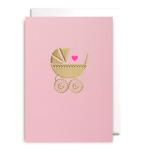 Baby Girl Greeting Card - Lagom Design