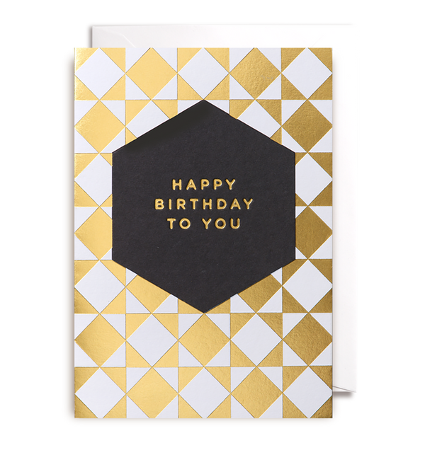 Happy Birthday To You Greeting Card - Lagom Design