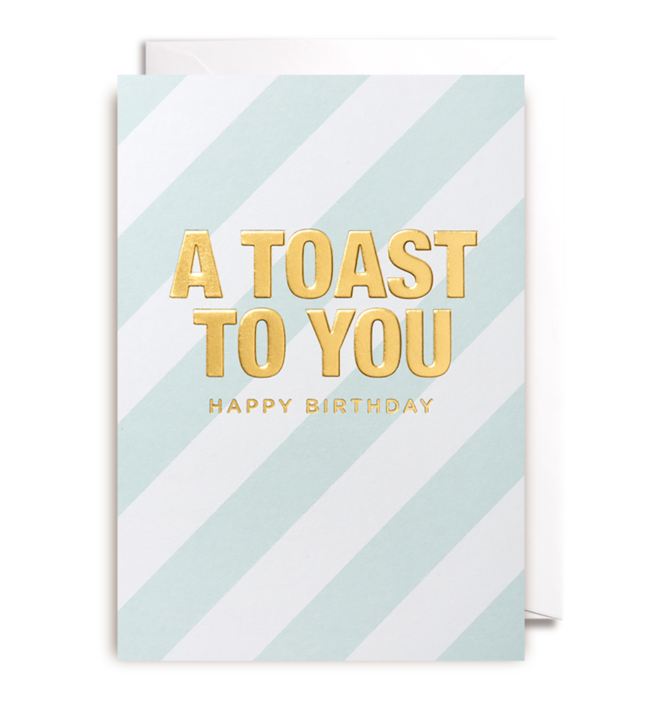 A Toast To You Greeting Card - Lagom Design