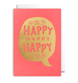 Happy Happy Happy Card - Lagom Design