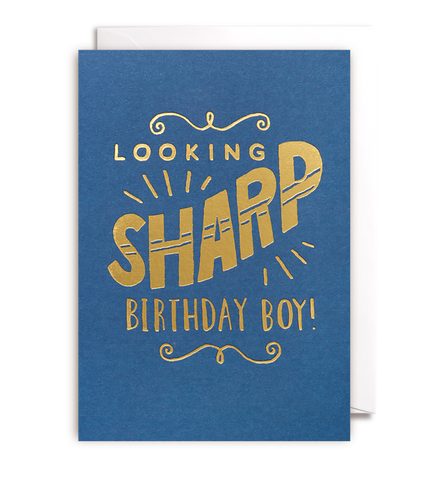 Looking Sharp Birthday Boy Card