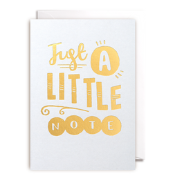 Just A Little Note - Lagom Design