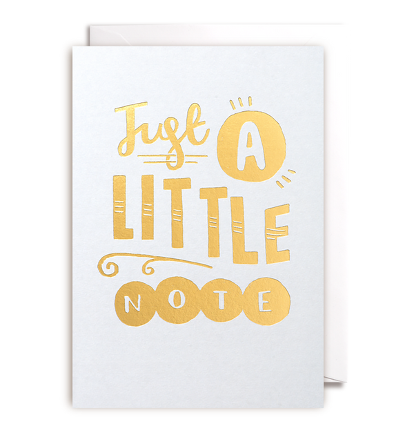 Just A Little Note Card - Lagom Design