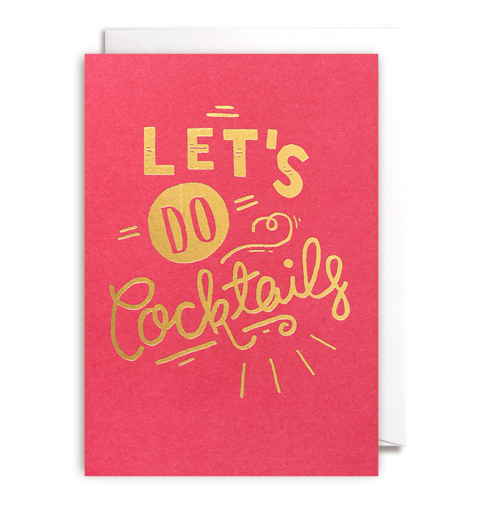 Lets Do Cocktails Card