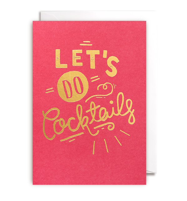 Lets Do Cocktails Card - Lagom Design