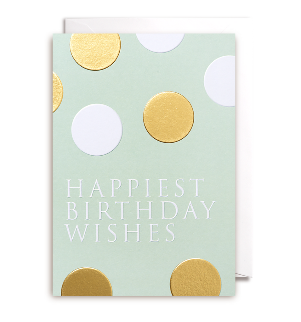 Happiest Birthday Wishes Greeting Card - Lagom Design