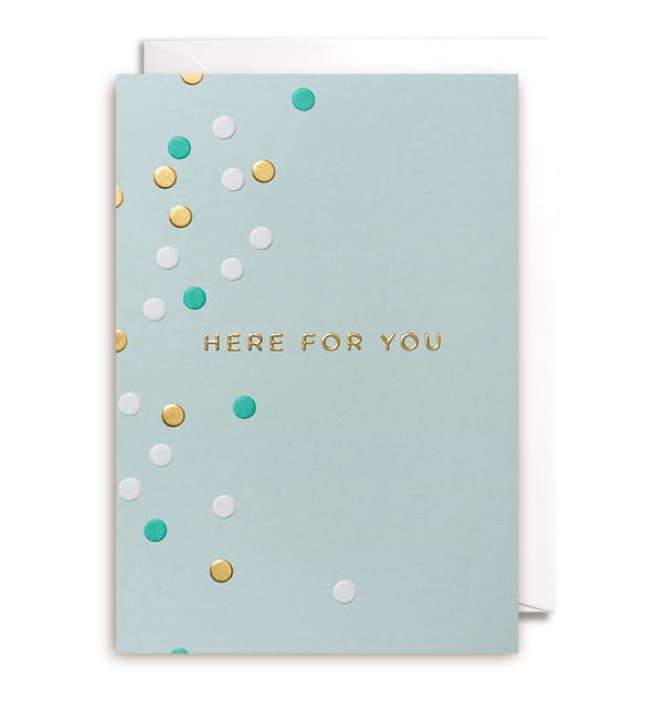 Here For You Greeting Card - Lagom Design