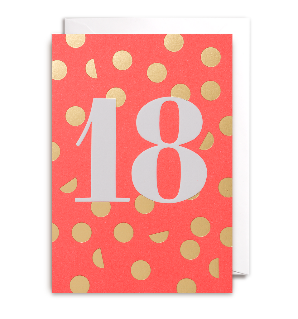 Eighteen Greeting Card