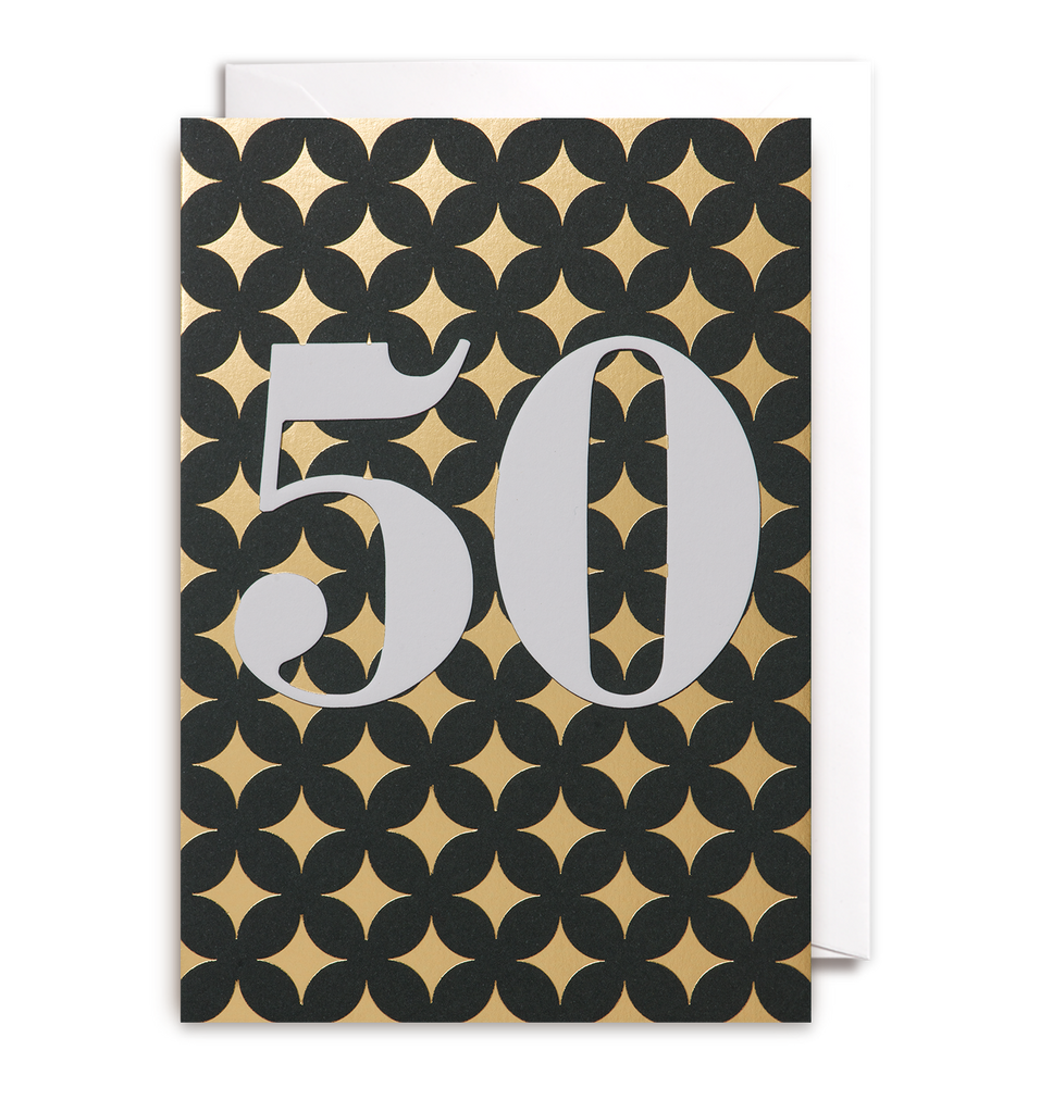 Fifty Greeting Card - Lagom Design