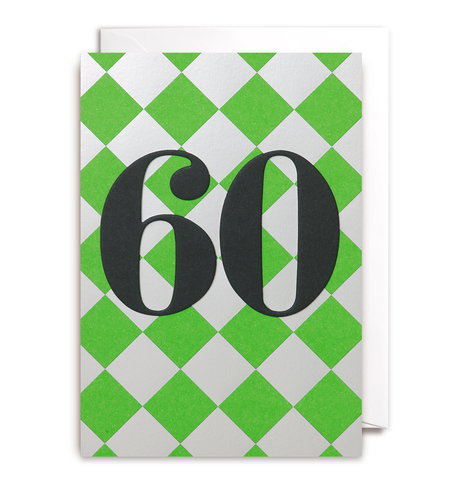 Sixty Greeting Card