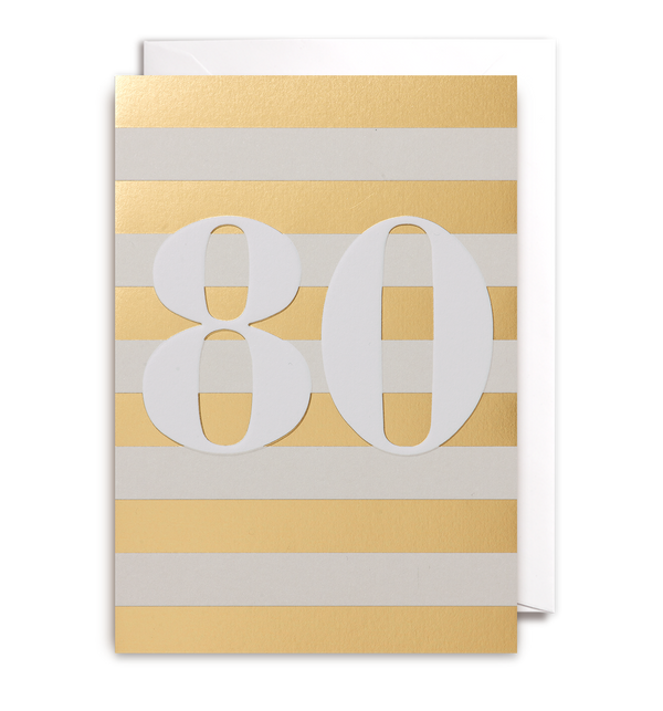 Eighty Greeting Card - Lagom Design