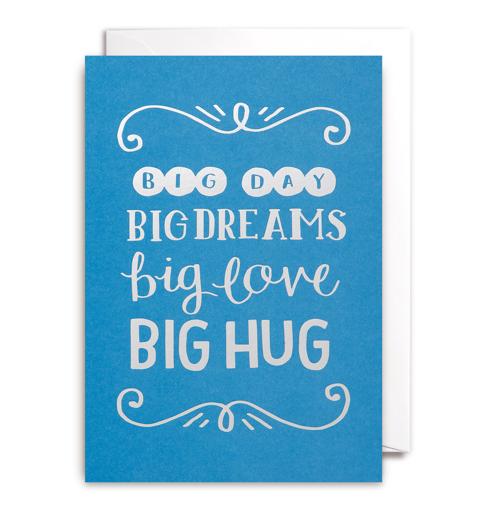 Big Day, Big Dreams Card - Lagom Design