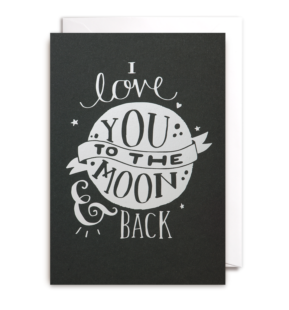i love you to the moon back card by steph baxter lagom. Black Bedroom Furniture Sets. Home Design Ideas
