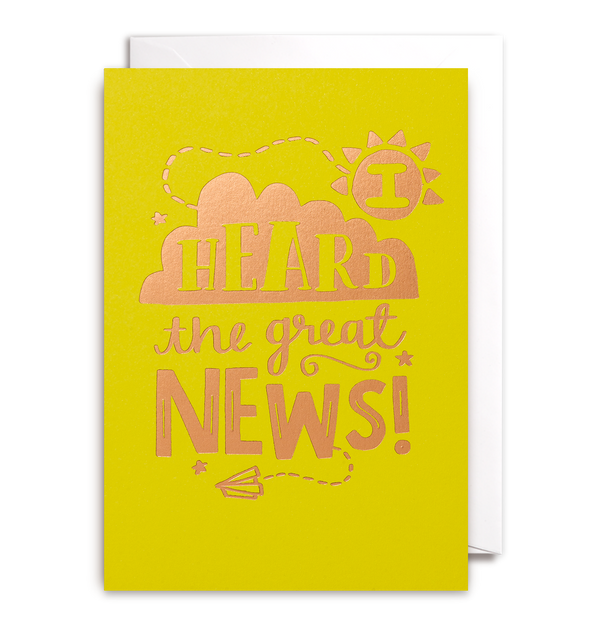 I Heard The News Card - Lagom Design