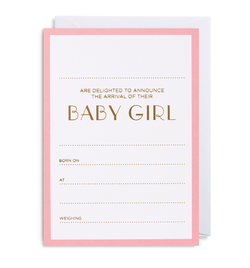 Baby Girl Announcement Pack - Lagom Design