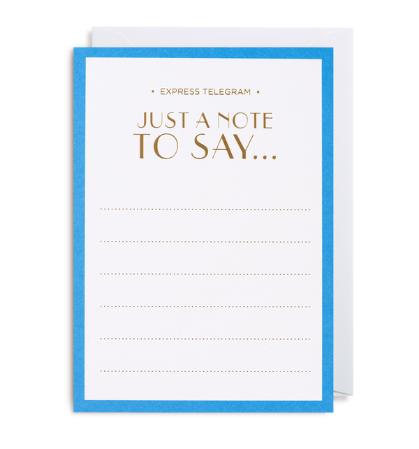 Just a Note Notecard - Lagom Design
