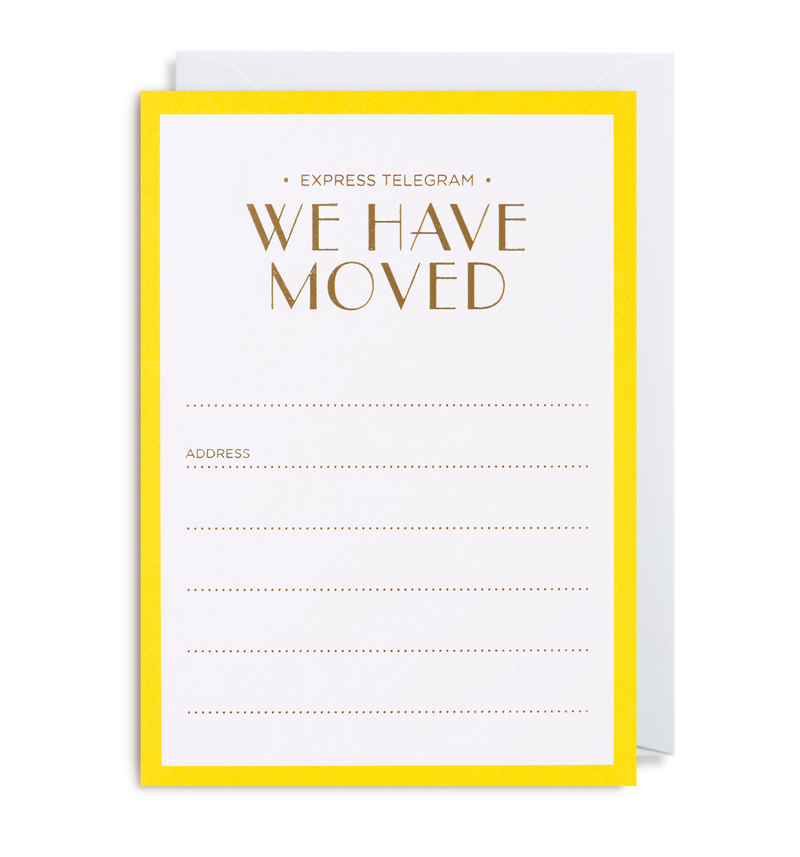New Home Announcement Notecard - Lagom Design