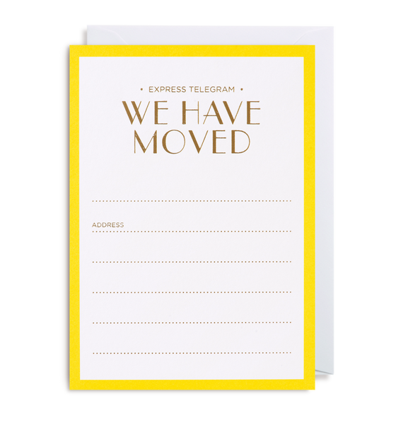 New Home Announcement Notecard