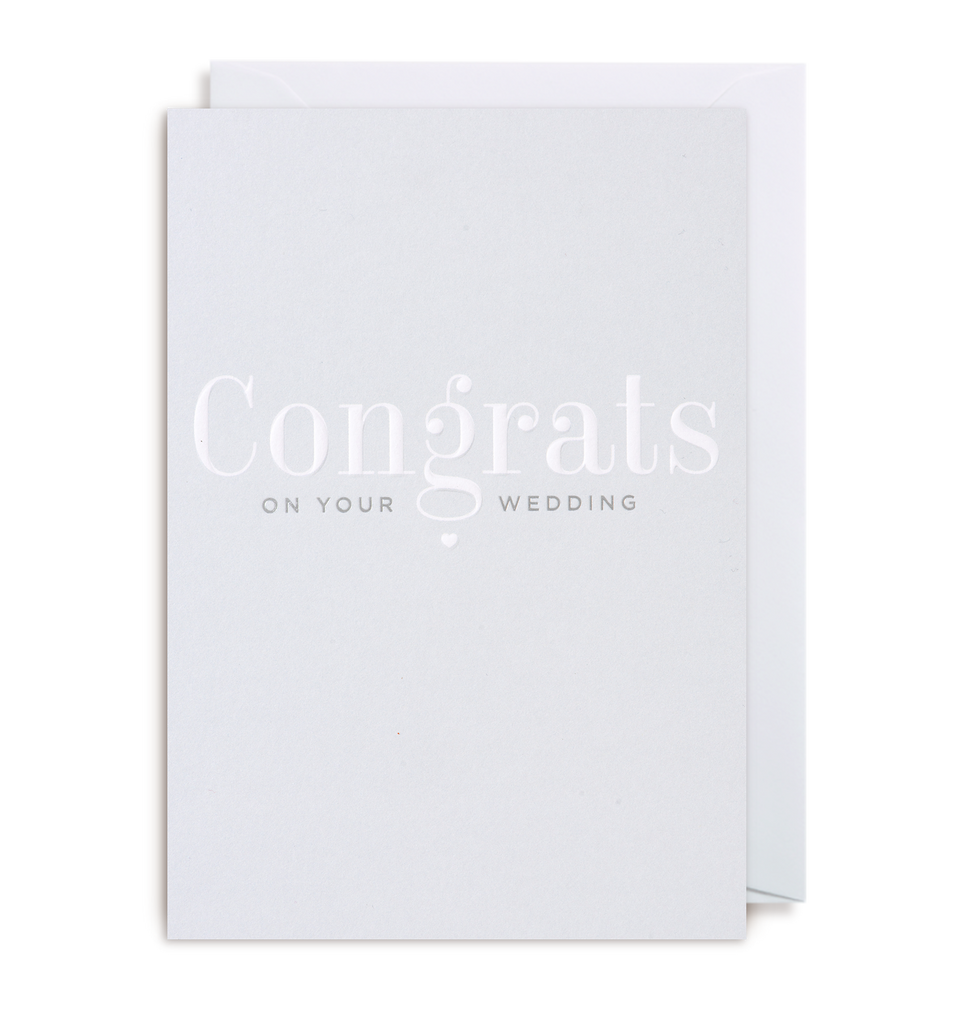 Congrats On Your Wedding Day Greeting Card - Lagom Design