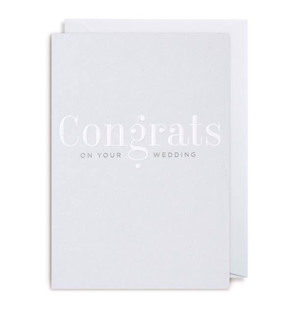 Congrats On Your Wedding Day - Lagom Design