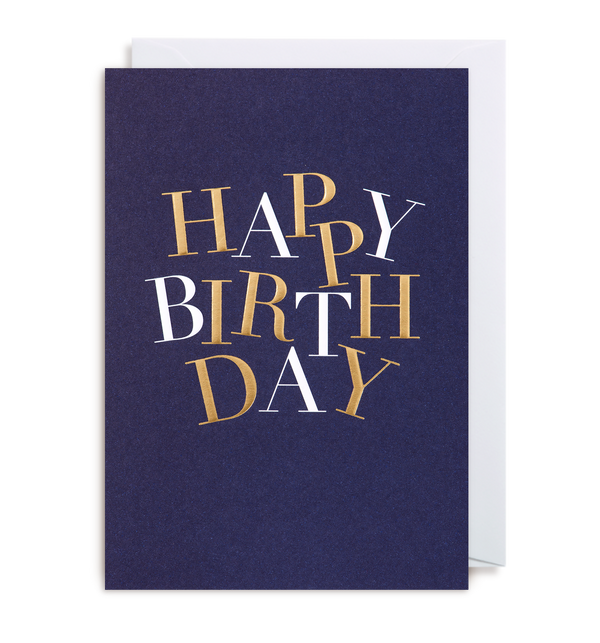 Happy Birthday Greeting Card - Lagom Design