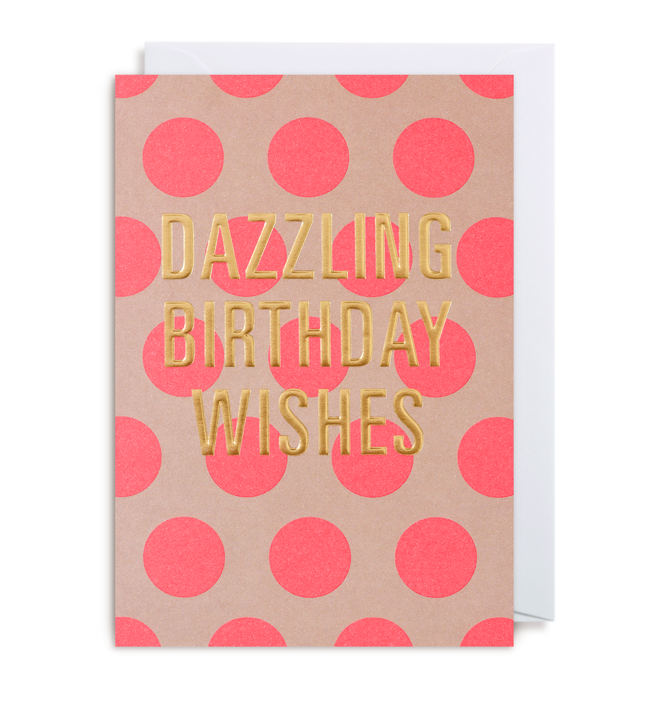 Dazzling Birthday Wishes Greeting Card - Lagom Design