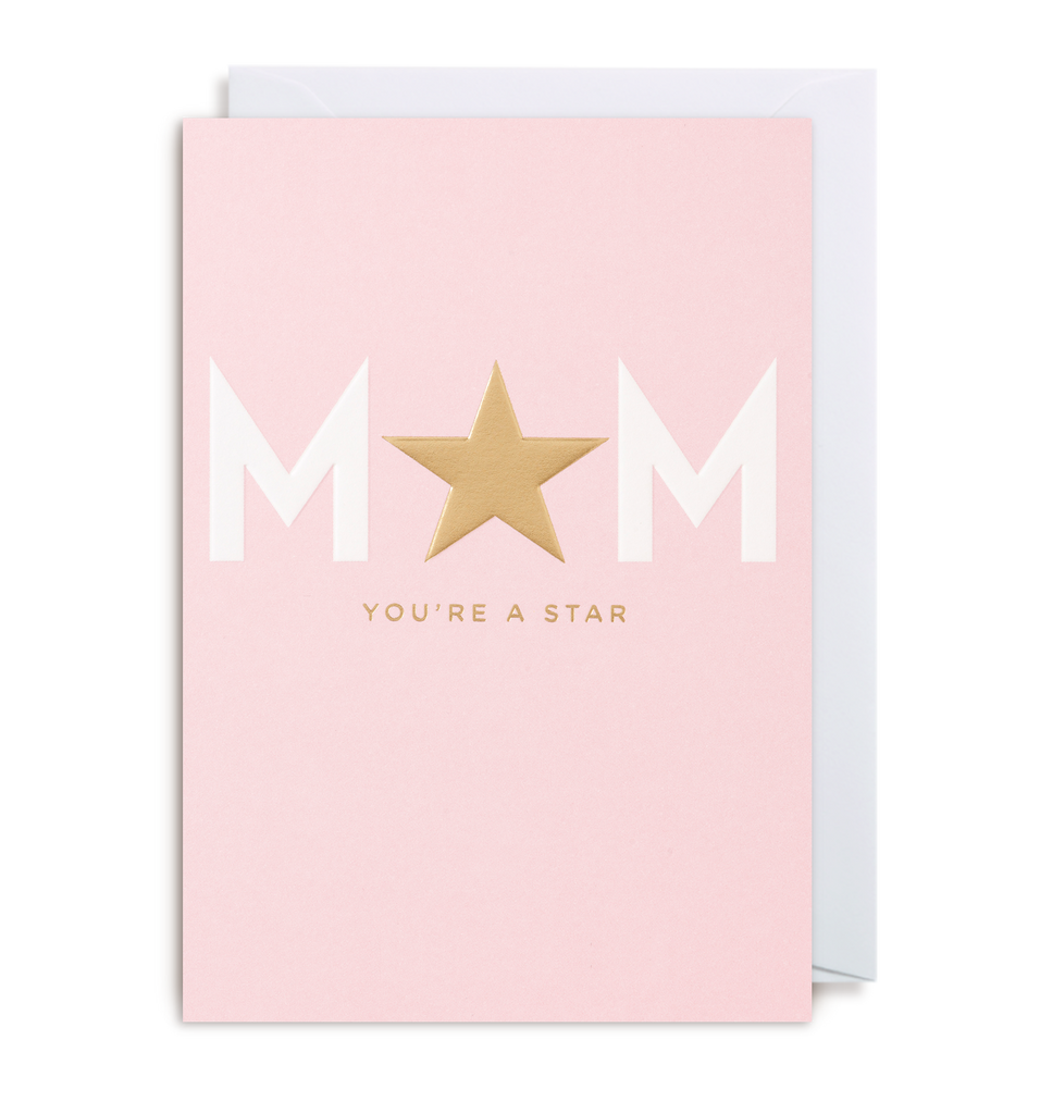 Mum You're A Star Greeting Card
