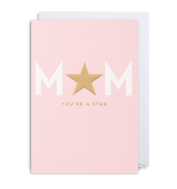 Mum You're A Star Greeting Card - Lagom Design