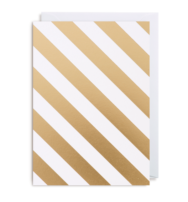 Gold Stripe Notecard - Lagom Design