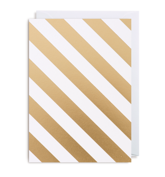Gold Stripe Notecard
