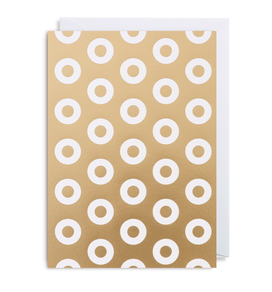 Gold Polo Notecard