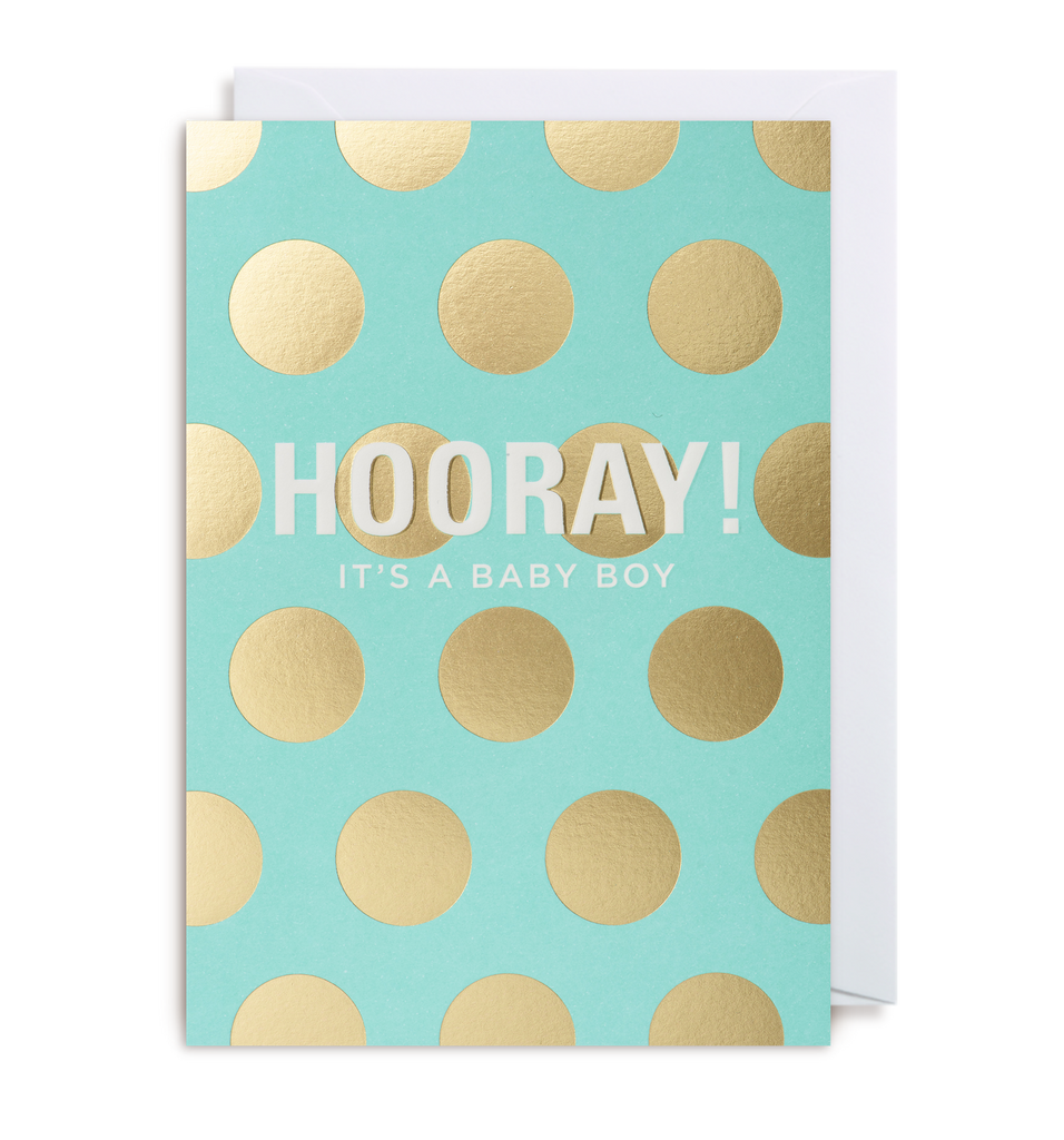 Hooray! It's A Boy Greeting Card