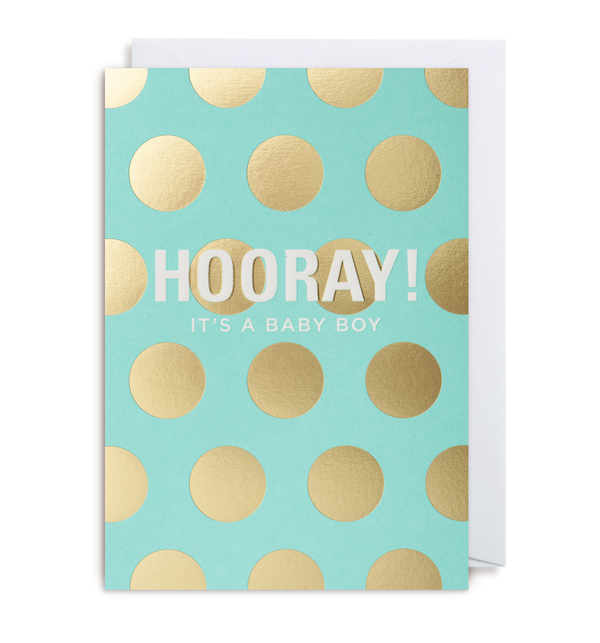 Hooray! It's A Boy Greeting Card - Lagom Design
