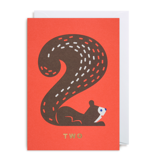 Number Two Squirrel - Lagom Design