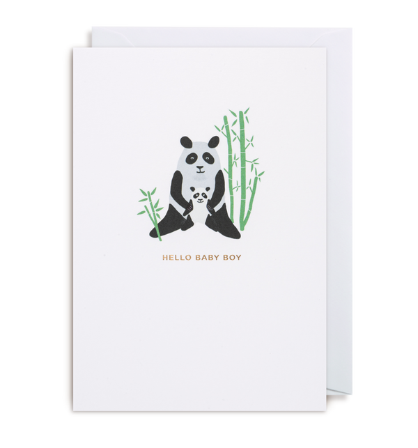 Hello Baby Boy Greeting Card - Lagom Design
