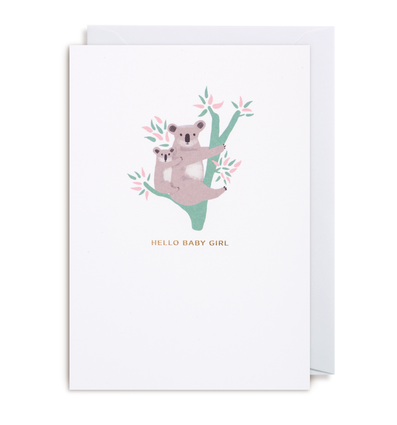 Hello Baby Girl Greeting Card - Lagom Design