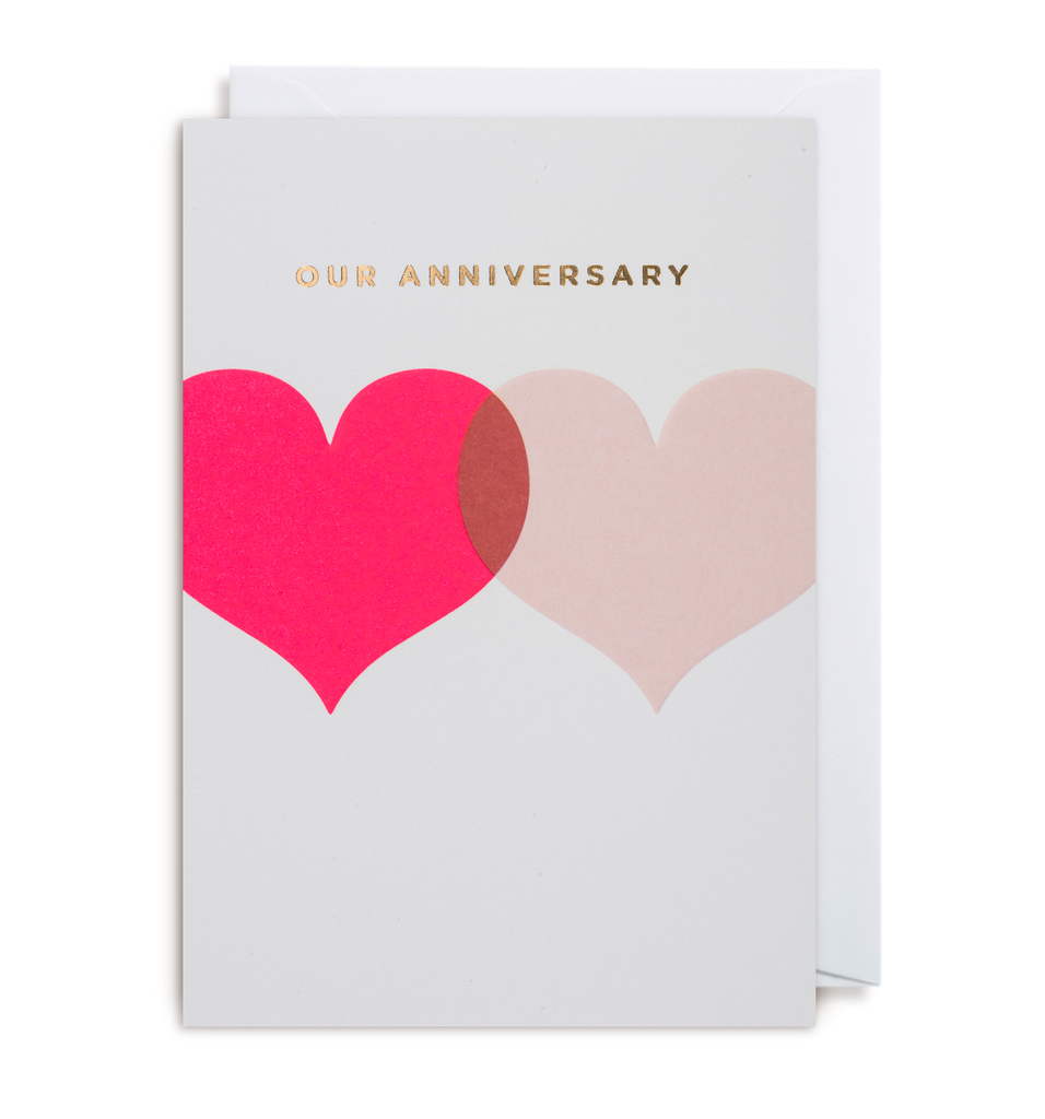 Our anniversary greeting card by postco lagom design