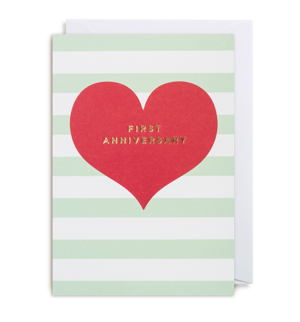 First Anniversary Greeting Card - Lagom Design