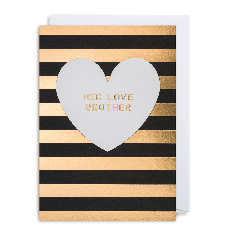 Big Love Brother Greeting Card - Lagom Design