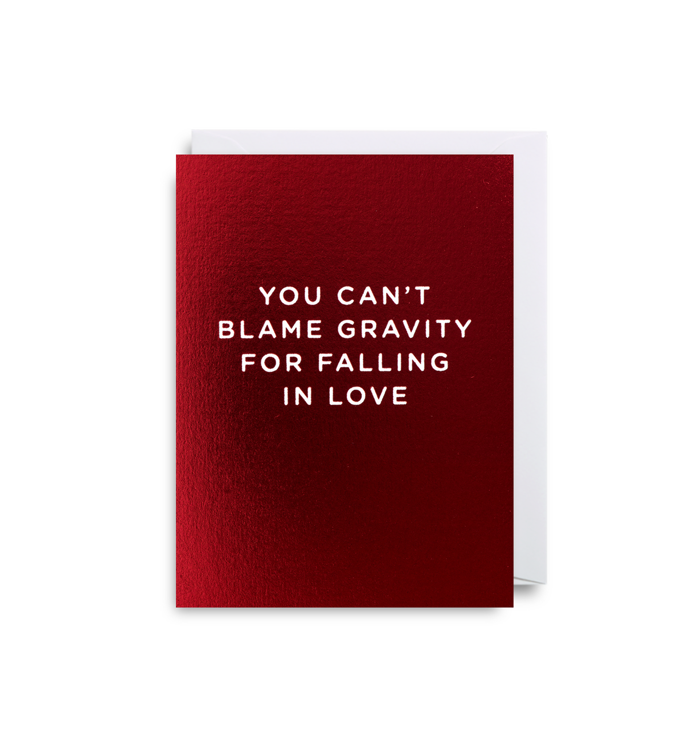 You Can't Blame Gravity For Falling In Love Mini Card - Lagom Design