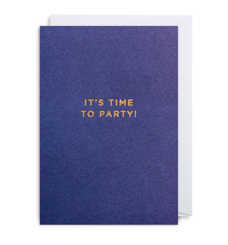 It's Time To Party Notecard - Lagom Design