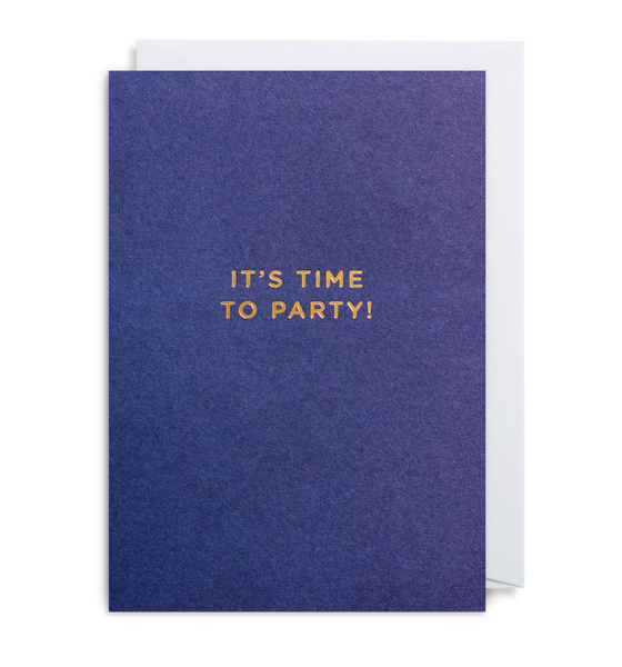 It's Time To Party Notecard