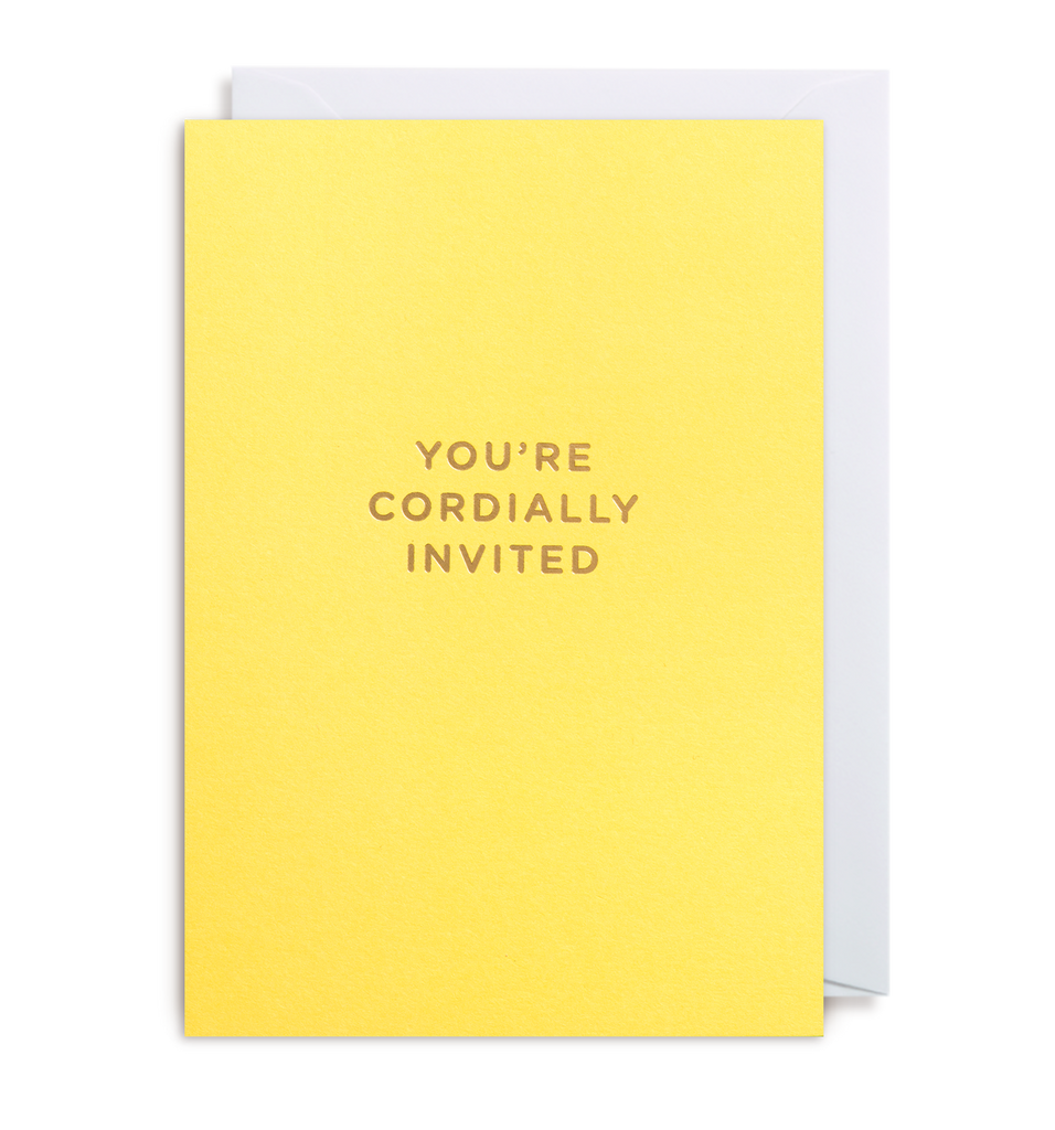 You're Cordially Invited Notecard
