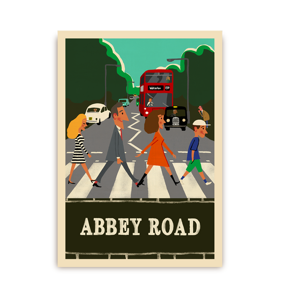 Abbey Road Postcard - Lagom Design